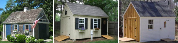 Build a storage shed summer house garden studio or for Post and beam shed plans