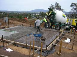 The Concrete Slab being poured