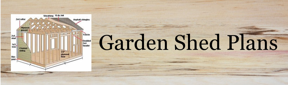 Design and build you own Garden Shed or Storage Shed