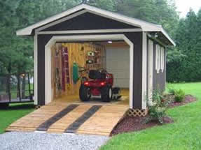 Build a drive in Garden Shed to store your heavy equipment
