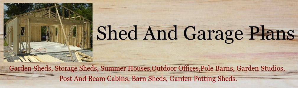 Shed Plans | Garage Plans | Garden Shed Plans header image